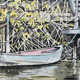 The Grey Skiff in Fall by Luisa Millicent