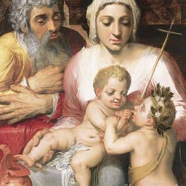 The Holy Family With Saint John The Baptist, 1546  by Frans Floris
