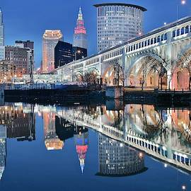The Iconic CLE View by Frozen in Time Fine Art Photography