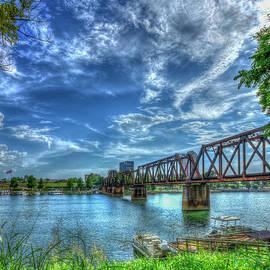 The IronMan Sixth Street Trestle Bridge Augusta Georgia Art by Reid Callaway