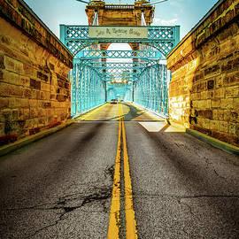 The John A. Roebling Bridge - Cincinnati Ohio by Gregory Ballos