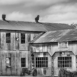 The Kirkpatrick Cotton Gin Black And White by JC Findley