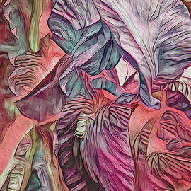 The Lines of an Iris Magenta Tone by Lynda Lehmann