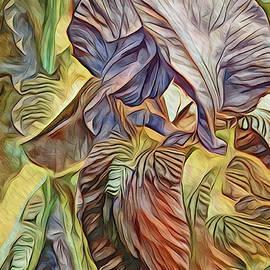 The Lines of an Iris Yellow Tone by Lynda Lehmann