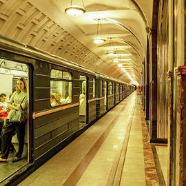 The Moscow Subway by Kay Brewer