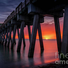 The Most Amazing Sunset at the Pier in Venice, Florida 2 by Liesl Walsh