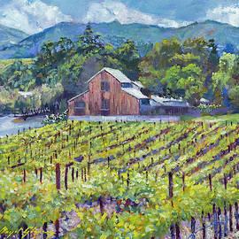 The Napa Winery Barn by David Lloyd Glover