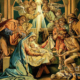 The Nativity, Madonna And Child, New Testament by English School