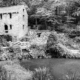 The Old Mill In North Little Rock - Pugh's Mill 1832 Monochrome by Gregory Ballos