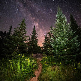 The Path To The Milky Way In Albany New Hampshire by Toby McGuire