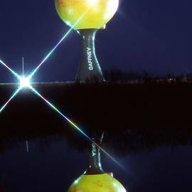 The Peachoid at Night by Rodger Painter