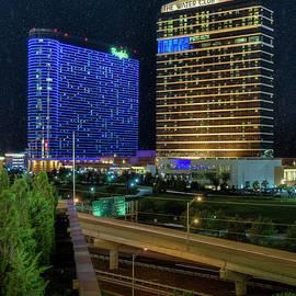 Atlantic City Luxury Hotels Vertical by David Zanzinger