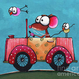 The Pink Car by Lucia Stewart