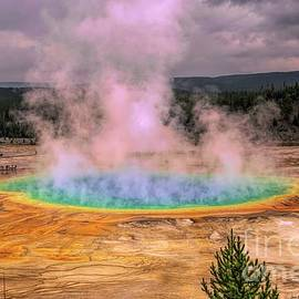 The Rainbow of Water - Grand Prismatic Spring by Jan Mulherin