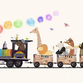 the rainbow train by Bri Buckley