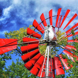 The Red Windmill by Natural Abstract Photography