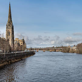 The River Tay In Perth by Ross G Strachan