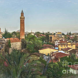 The Rooftops Of Antalya by Ian Lewis