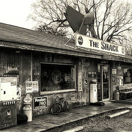 The Shack In Evergreen, Alabama In Black And White by Bill Swartwout Fine Art Photography
