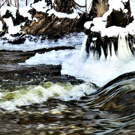 The Speeds of Water - Rapid River Falls Park by Mirriquel Art