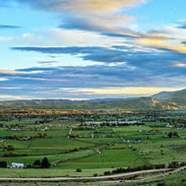 The Spring View Of Emmett Valley by Robert Bales