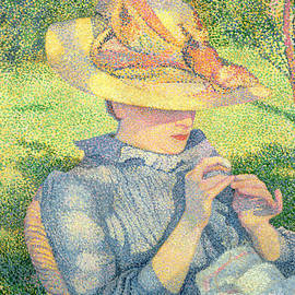 The Straw Hat, 1890 by Theo van Rysselberghe