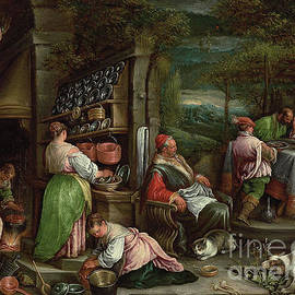 The Supper At Emmaus By Bassano by Jacopo and Francesco Bassano