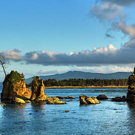 The Three Graces, Tillamook Bay Oregon, Oregon Coast by TL Mair