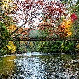 The Toccoa River Hanging Bridge by Debra and Dave Vanderlaan