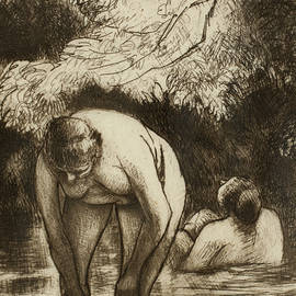 The Two Bathers by Camille Pissarro
