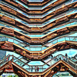 The Vessel - Hudson Yards # 10 - N Y C - Photopainting by Allen Beatty