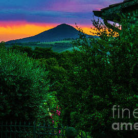 The view from the Petrarch house in Arqua Petrarca. by Alexander Vinogradov