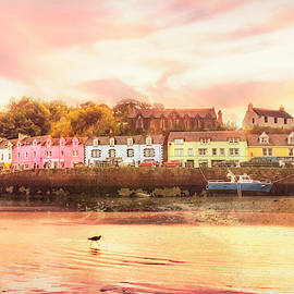 The Village of Portree Scotland Picture Postcard by Debra and Dave Vanderlaan