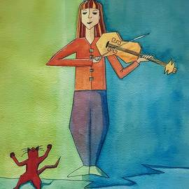 The Violinist by Lorraine Germaine