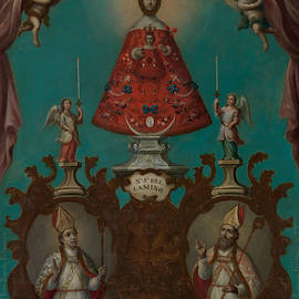 The Virgin Of El Camino With St. Fermin And St. Saturnino by Nicolas Enriquez