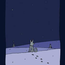 Three Dog Night by BlackLineWhite Art