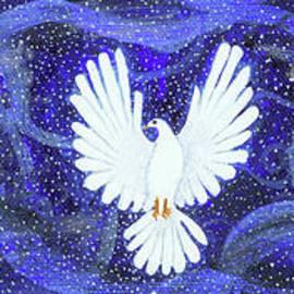 Three Doves in a Swirling Midnight by Lise Winne