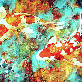 Three Koi by Sandra Selle Rodriguez