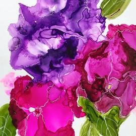 Three Petunias  by Marcia Breznay