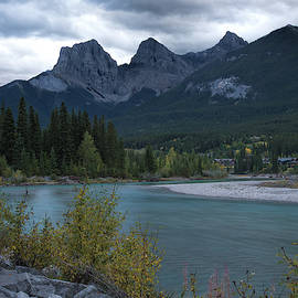 Three Sisters and Bow River by Jemmy Archer