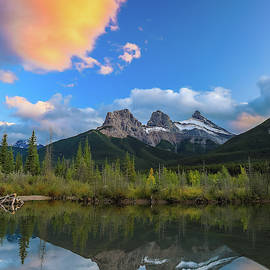 Three Sisters Vertical Reflection by Dan Sproul