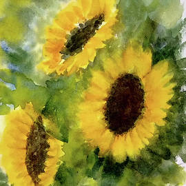 Asha Sudhaker Shenoy - Three sunflowers