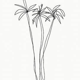 Three Tall Palm Trees- Art By Linda Woods by Linda Woods