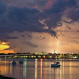 Thunderstorm at Sunset by Robert Gecy