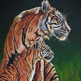 Tiger and Cub by Lillian Bell