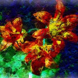 Tiger Lillies with fracture effect by Mario Carini