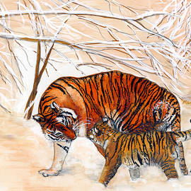 Tigers in Winter by Marcella Chapman