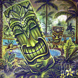 Tiki Genie's Sacred Pools by CBjork Art