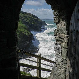 Tintagel Castle Coast View Cornwall by Richard Brookes