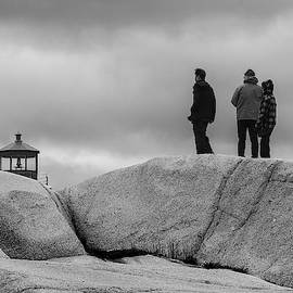 Tip of the Lighthouse in Black and White by Nicola Nobile